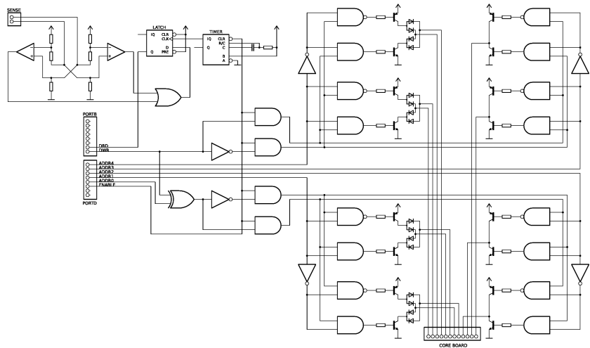 memory schematic magnetic core memory reborn #4